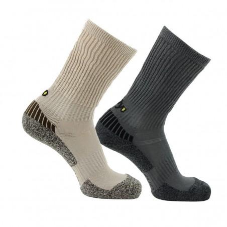 Lot de 2 paires de chaussettes Trek-GR Concept beige-gris