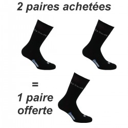Lot de 3 paires de Mi-chaussettes Double Authentic