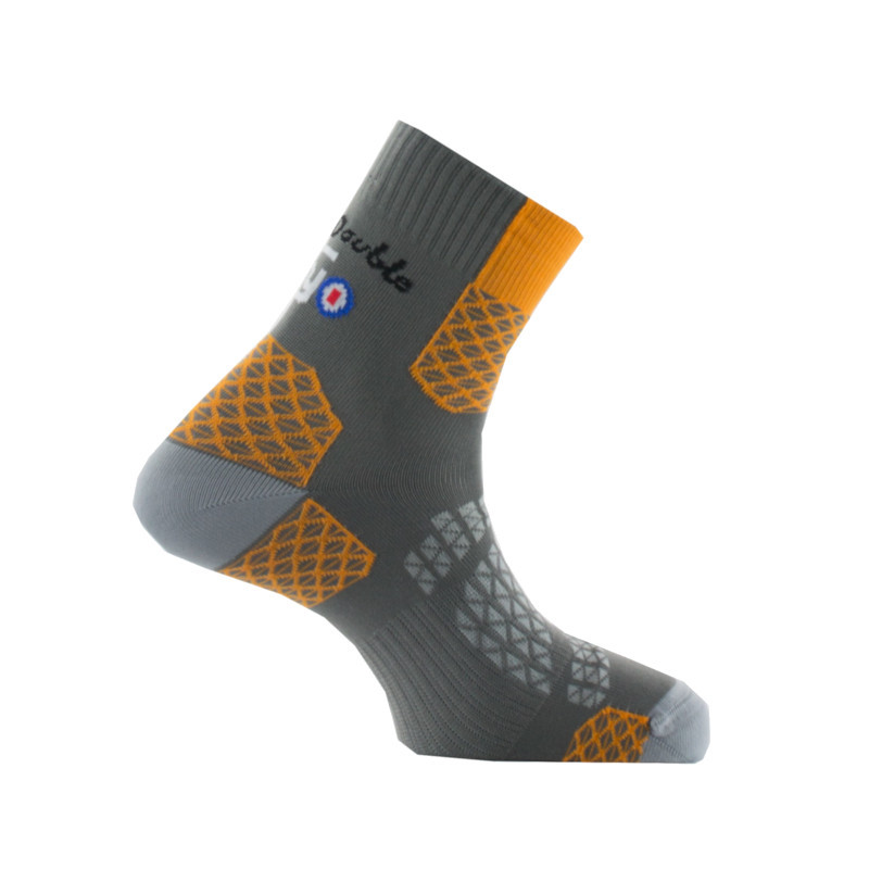 Chaussettes La Double® Trek II Gris/orange