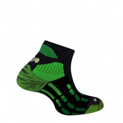 Chaussettes Pody Air® Trail - noir/vert fluo