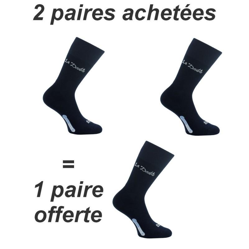 Lot de 3 paires de chaussettes  Double Authentic