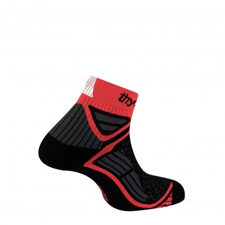 Socquettes Energy® Run - noir/orange