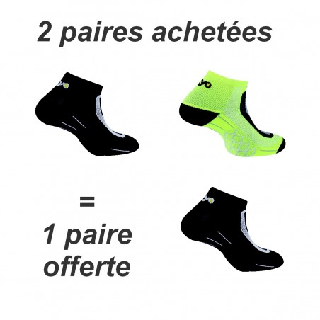 Lot de 3 paires de chaussettes running Run Lighty