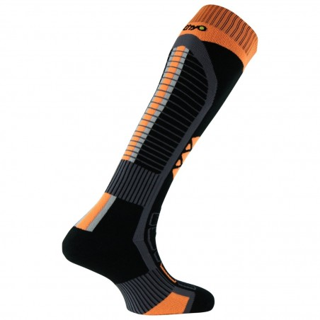 Chaussettes de Ski Thermo-Tech noir/orange