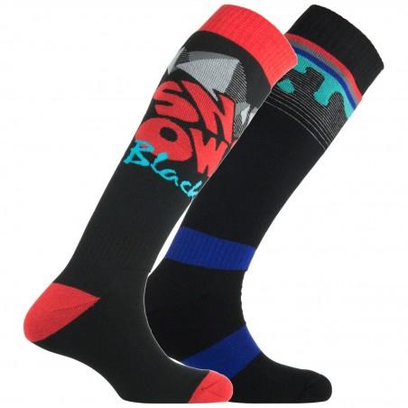 Lot de 2 paires de chaussettes de ski Mountain