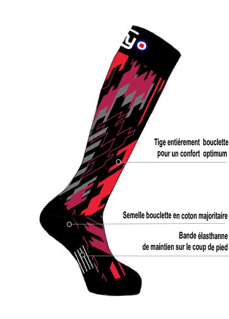Mi-bas ski RED ZONE